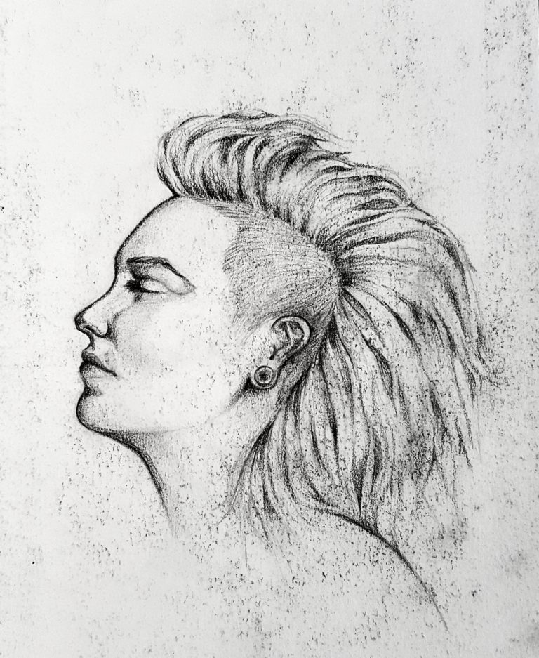 Side profile study - Graphite pencil on paper