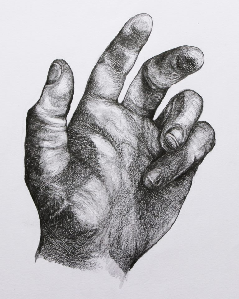 Study of my hand - Graphite pencil on paper