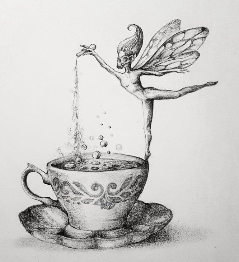 Toxic Fairy Dust - Graphite pencil on paper