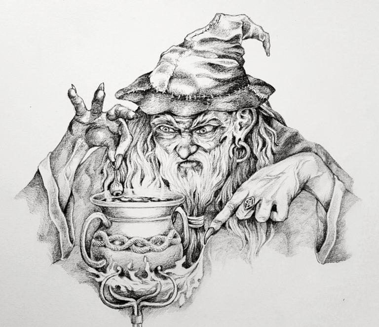 Wizard - Graphite pencil on paper